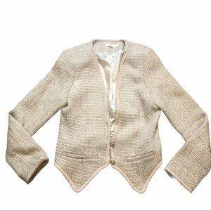 LUSH Blush Pink Tweed 2 Button Blazer M